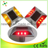 Espárrago solar de aluminio del camino del ojo de gato de la aprobación LED de IP68/Ce/RoHS