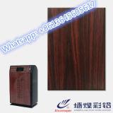 Nuevo hoja de acero galvanizada cubierta del diseño color de madera para el filtro de aire