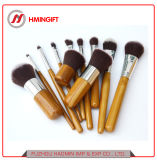 11 частей портативный макияж набор щеток для поездок косметические средства природного синтетические волокна