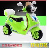 Moto électrique de bon de cour de jeu enfant extérieur de matériel