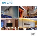 Placa acústica decorativa interior da fibra de poliéster de Retartant da flama para o auditório