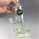 Tubo di fumo all'ingrosso della mano di vetro di Borosilicate Waterpipes per tabacco e l'erba di prova