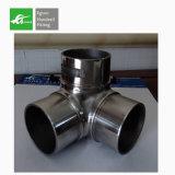 Egoee 3 conetores redondos da câmara de ar do aço inoxidável do conetor da tubulação da maneira 25mm
