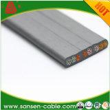 Câble électrique plat d'élévateur de grue d'ascenseur de faisceau d'isolation de cuivre de PVC