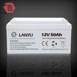 Batterie d'acide de plomb profonde rechargeable du gel 12V 50ah d'UPS VRLA de cycle