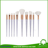 10pcs cosméticos maquillaje profesional Brush set colorido Powder Foundation Eyesgadow colorete labios cejas Mascara cepillos