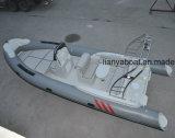 Grande imbarcazione a motore della vetroresina della barca di navigazione della barca della nervatura di Liya 6.6m