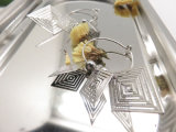Jewelry Hoop Pendant Alloy女性空のひし形の正方形のイヤリングの低下