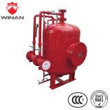 El tanque de vejiga vertical de la espuma del acero inoxidable para el equipo de la lucha contra el fuego