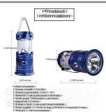 태양 LED 가벼운 재충전용 야영 램프