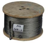 304 Ss Kabel van de Draad 2mm Bouw 7*7