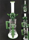 Bontek 5mm en verre borosilicaté de fumer des mauvaises herbes Les pipes à eau