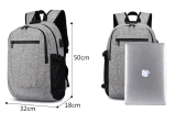Venda quente à prova de grande capacidade de carregamento USB portátil profissional mochila saco anti-roubo