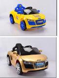 Conduite électrique rechargeable de gosses du jouet noir R/C sur le véhicule de bébé