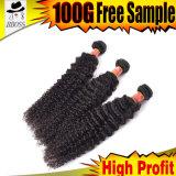 Brasilianisches Haar von Menschenhaar 100% mit lockiger Webart