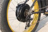 Bici de montaña eléctrica del neumático gordo de gran alcance 1000W con el motor trasero