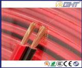 De flexibele Zwarte Rode pvc Geïsoleerde Kabel van de Spreker