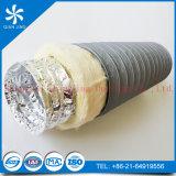 Tubo de aire flexible de la fibra de vidrio rosada para el uso de la ventilación