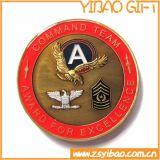Изготовленный на заказ монетка сувенира золота для венчания (YB-WD-13)