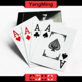 Plastiktexas Holdem Schürhaken-Spielkarten 100% imprägniern Belüftung-und Dull polnische Schürhaken-Stern-Brettspiele (YM- PC02)