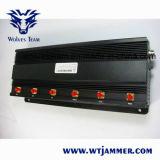 3G/4G de Stoorzender van de Telefoon van de Cel van de hoge Macht met Krachtige Antenne 6 (4G LTE + 4G Wimax)