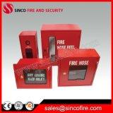 Bobina della manichetta antincendio con il Governo della manichetta antincendio e la cremagliera della manichetta antincendio