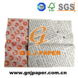Excellent Quality 21GSM Pirnted Greaseproof Wrap for Paper Sale