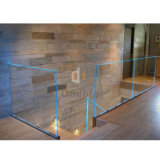 아파트 House Staircase와 Stairwell U Channle Glass LED Railing