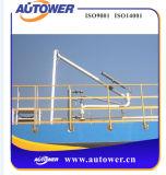 PTFEの工場が付いているアームの荷を下す軌道車の量的なローディング