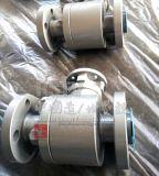 造られた炭素鋼完全なポート3PCのフランジの球弁