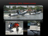 Liya Best Center Comforts Boats 6.6m Rigid Inflatable Fiberglass Rescue Boat
