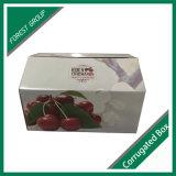 Rectángulo de empaquetado de papel de la cereza de encargo de la impresión de la fruta