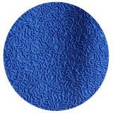 Голубая перчатка работы отделки Crinkle латекса 3/4 с раковиной Tc