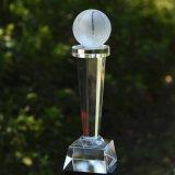 Trofeo de baloncesto de la tabla de cristal con logo personalizado para eventos