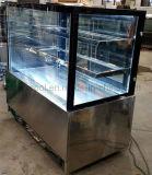 Rechtwinklige Glastür-Kuchen-Bildschirmanzeige-Kühler-Gebäck-Kühlraum-Kuchen-Kühlvorrichtung mit Qualität