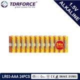 accumulatore alcalino asciutto primario 1.5volt con Ce/ISO 6PCS/Pack 5 anni di durata a magazzino (LR03/AM-4/AAA)