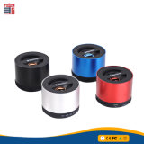 Haut-parleur portatif de radio de Bluetooth de ruban rouge de noir bleu de forme ronde