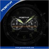 新しい到着の防水スポーツのクロノグラフの水晶腕時計