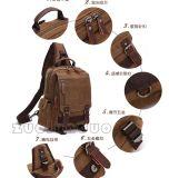 Im Freienarbeitsweg-wasserdichtes jugendliches kundenspezifisches einzelnes, Segeltuch-Beutel/Rucksack Daypack wenn