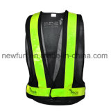 Дешевые простые 2,5 см ленты 50g сетка безопасности Майка Светоотражающая одежда