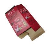 Indicador desobstruído caixa de empacotamento anexada da cerveja da gim da cereja