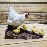 2017 새로운 디자인 가족 닭 정원 훈장 암탉 동상 장식