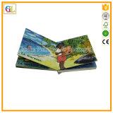Impressão elevada do livro de crianças da cor cheia de Qaulity 3D (OEM-GL002)
