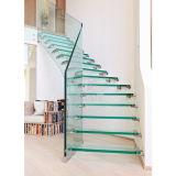 유리제 계단 중국 유리제 층계 라이저 실내 계단