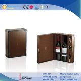 De Cuero marrón de lujo en caja de Vino Vino Expositor (5788)