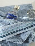 豪華なヤーンの染められた小切手デザイン安く卸売によって個人化される厚い綿手タオル