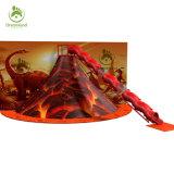 Тема динозавров крытый мягкий вулкан слайд-игровая площадка, вулкан скалолазание игры для продажи