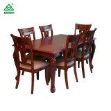 Tabela de jantar de madeira por atacado da mobília com projeto das cadeiras