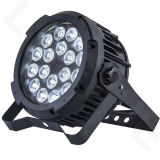 DMX 옥외 RGBWA UV 6in1 동위는 18X18W LED 세척을 상연할 수 있다