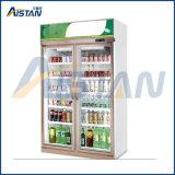 Mlg-1100 Deux vitrine commerciale porte réfrigérateur Refroidisseur de bouteille d'affichage